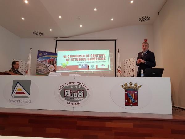 Xesus Pena VI Congreso de Centros de Estudios Olímpicos La Nucía 2018