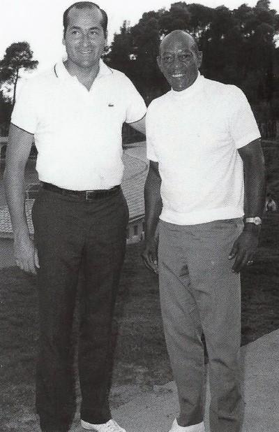 Conrado Durántez con Jesse Owens