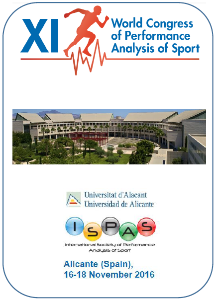 XI World Congress of Performance Analysis of Sport